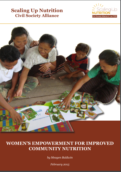 Women's empowerment for improved community nutrition cover page