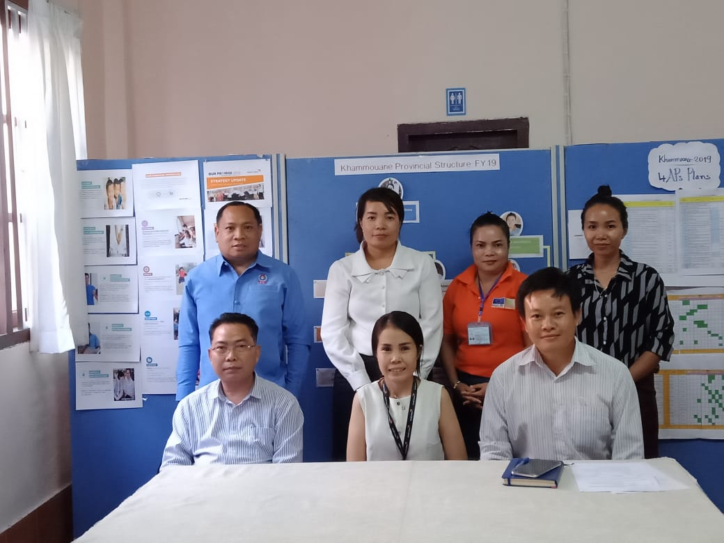 7 Lao participants at Khammouane Province Coordination meeting
