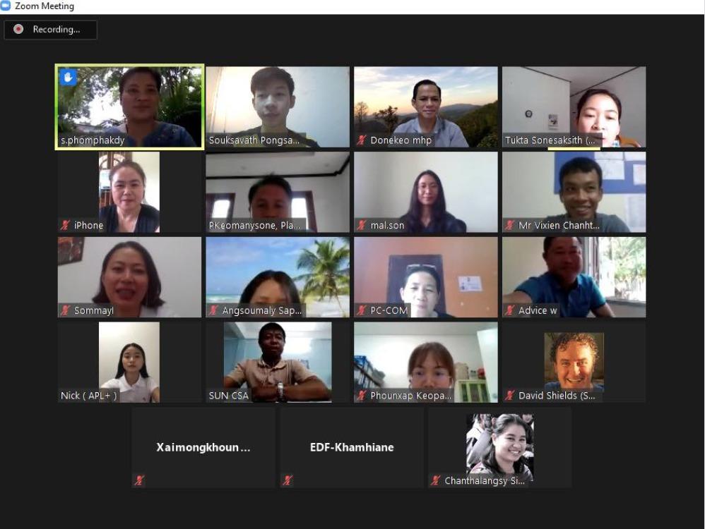 ZOOM group shot of SUN CSA Laos members