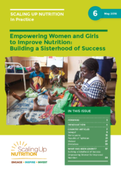The report of launching In Practice Brief: Empowering women and Girls to Improve Nutrition: Building a Sisterhood of Success